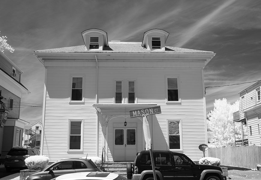 Infrared Photo of New England House in Downtown Gloucester.