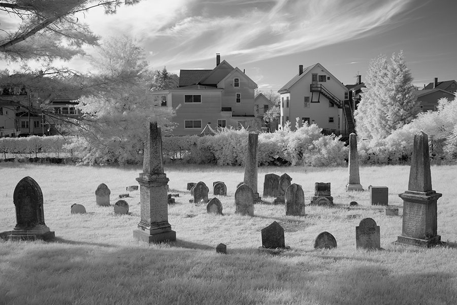 Infrared Photo of Small Burial Ground, Gloucester, Massachusetts.