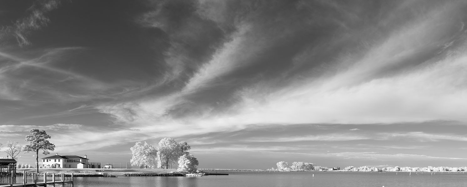 Infrared Panorama of Inlet in Northern Virginia